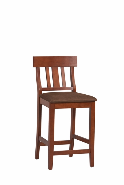 Torino Dark Cherry Finish Wooden Bar Stool