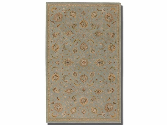 Torrente Powder Blue Hand Tufted Wool Rug 73025