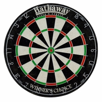 "Carmelli Winners Choice 18"" Sisal Fiber Bristle Self-Healing Steel Tip Dartboard"
