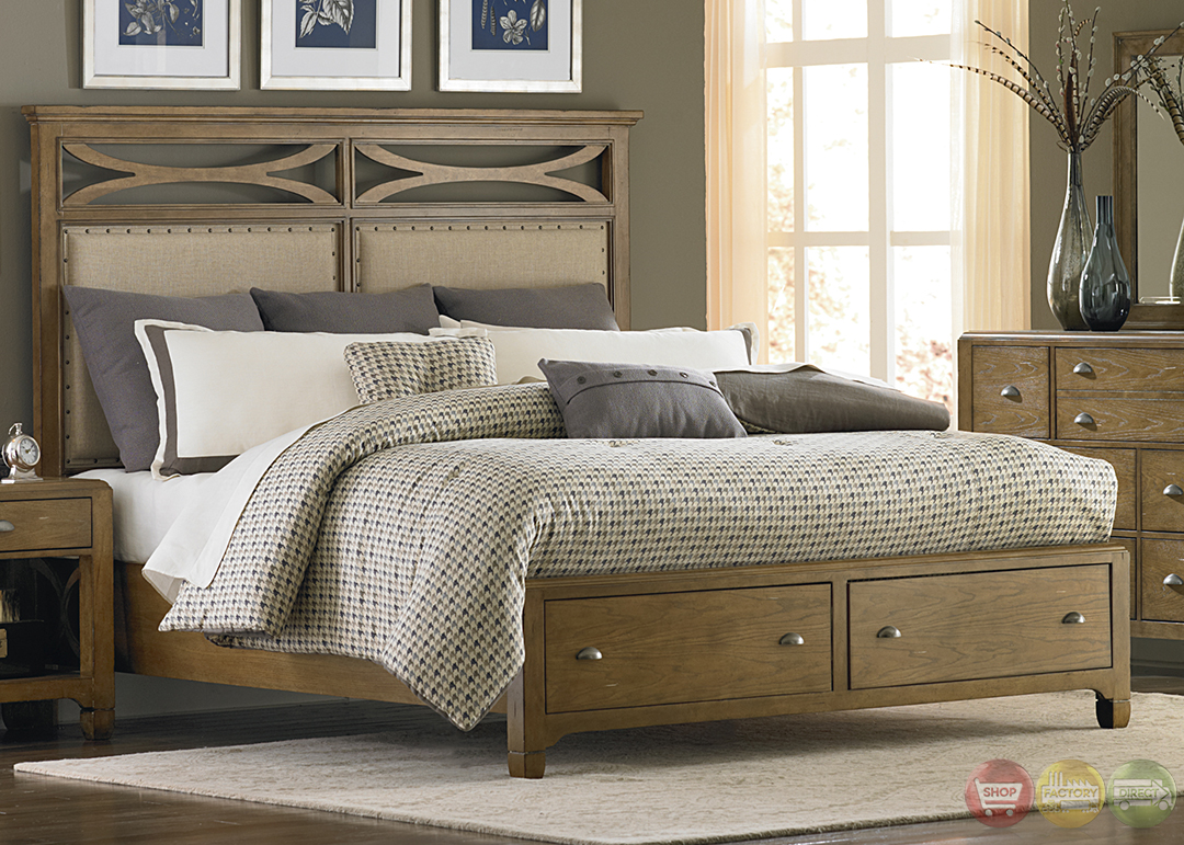 town and country distressed finish storage bedroom set. Black Bedroom Furniture Sets. Home Design Ideas