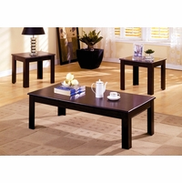 Town Square I Contemporary Espresso Accent Tables Set