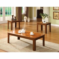 Town Square II Medium Oak Accent Tables Set