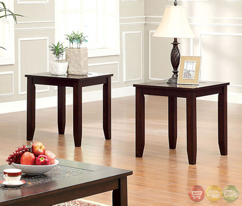 Townsend Iii Transitional Dark Cherry Accent Tables With