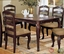 Townsville I Dark Walnut Casual Dining Set with Padded Seats