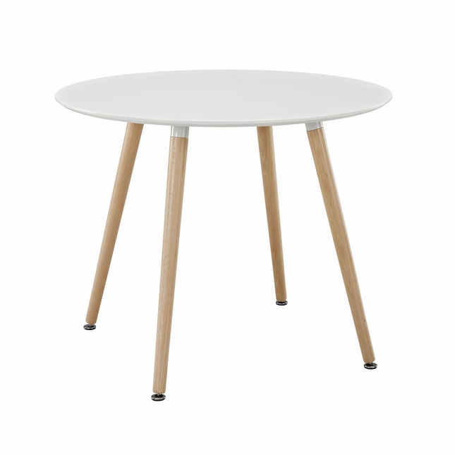 beautiful round white wooden dining table