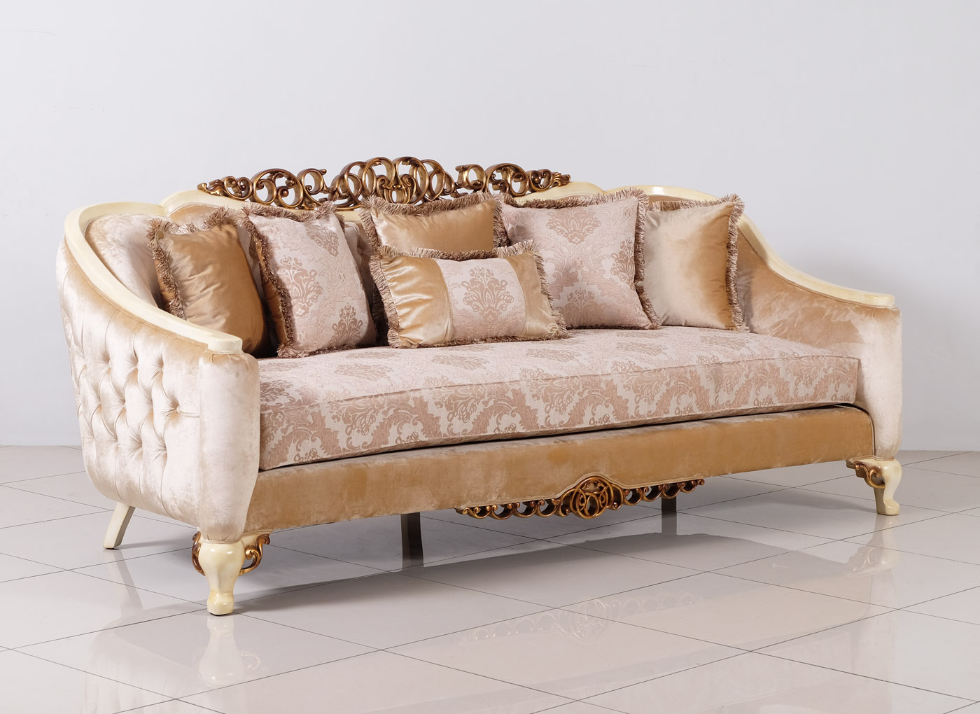 Traditional Formal Sofa Set with Carved Accents Antique ...