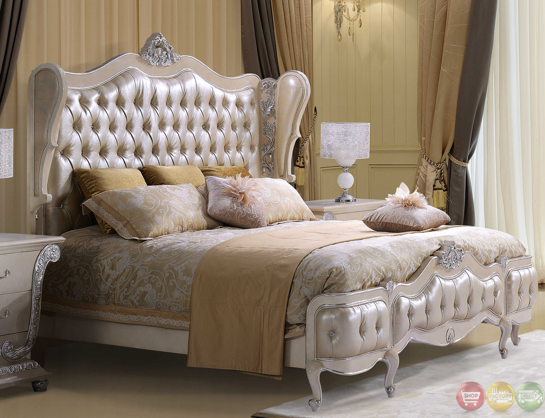 Traditional button tufted sweetheart queen size bedroom set on sale homey design 13002 - Bedroom farnitures hd ...