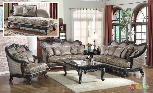 Traditional european design formal living room luxury sofa for Luxury living room furniture collection