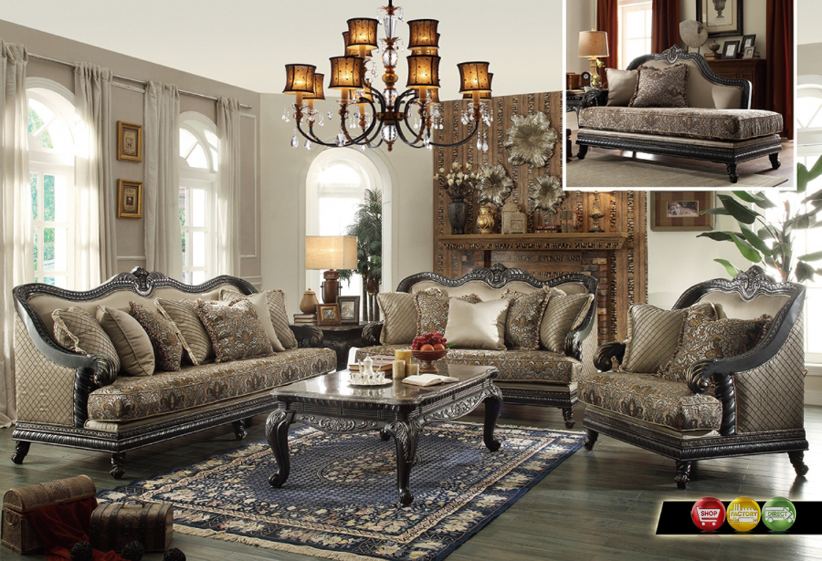 Traditional european design formal living room luxury sofa for Living room sets