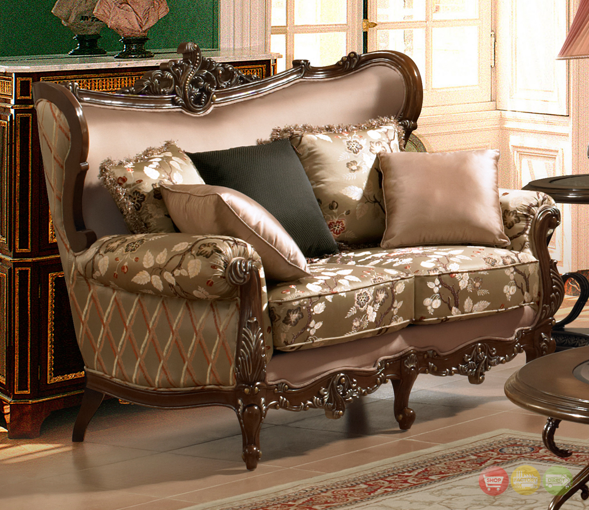 Traditional european design formal living room set w - Traditional sofa sets living room ...