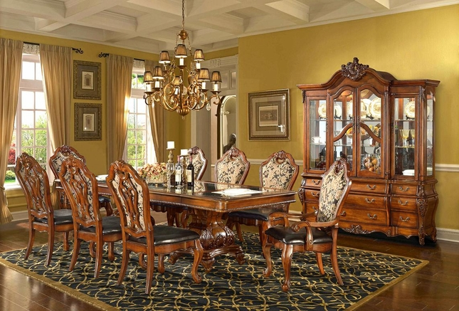 traditional formal dining room set homey design|free shipping