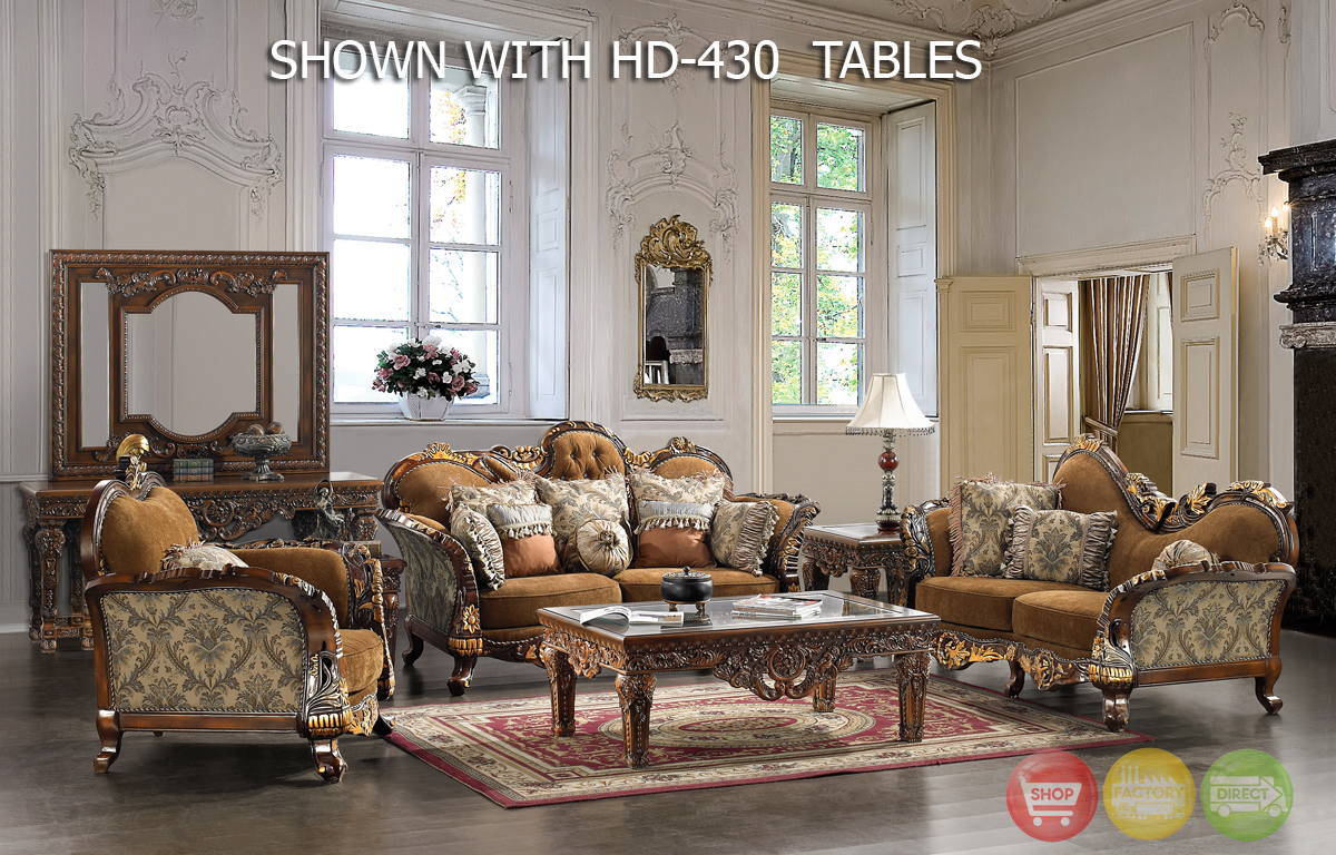 Traditional formal living room furniture collection hd 260 for Traditional living room furniture