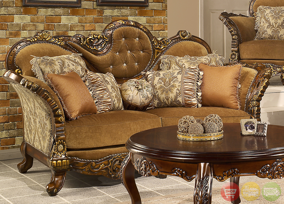 Living Room Furniture: Traditional Formal Living Room Furniture Collection HD-260