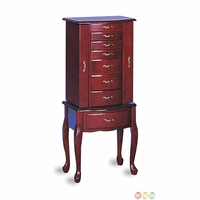 Traditional Mahogany Cabriole Leg Jewelry Armoire