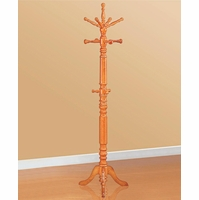 Traditional Oak Finish Wooden Coat and Hat Stand Rack