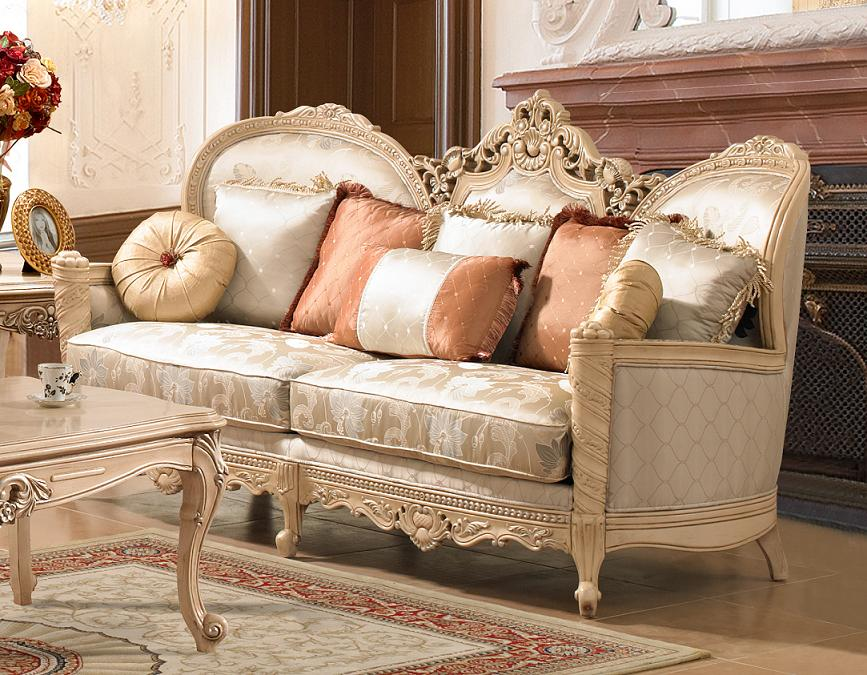 traditional victorian fabric living room set by homey design hd 91. Black Bedroom Furniture Sets. Home Design Ideas