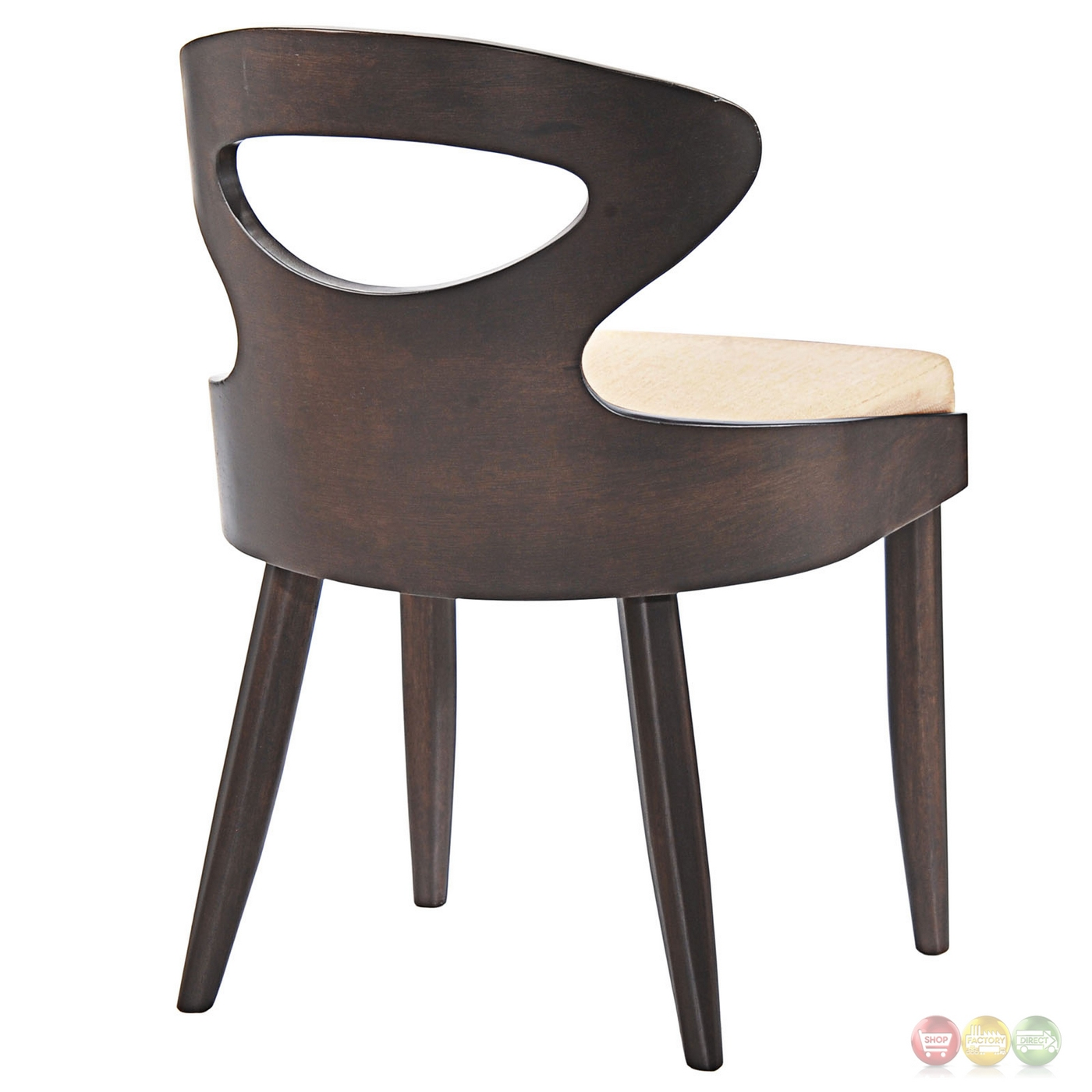 Transit vintage modern dining side chair with upholstered for Upholstered dining chairs contemporary