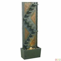 Traverse Floor Water Fountain Green Slate Copperd