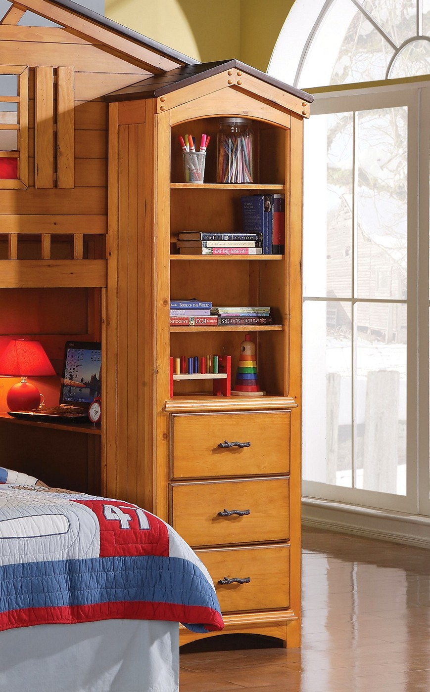 Tree House Kids Bookshelf with Shelves & Drawers in Rustic ...