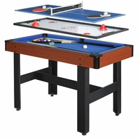 Triad 48-in 3-in-1 Blue & Cherry Multi-game Table, Accessories Included