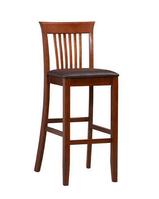 Triena Dark Cherry Finish Wooden Bar Stool