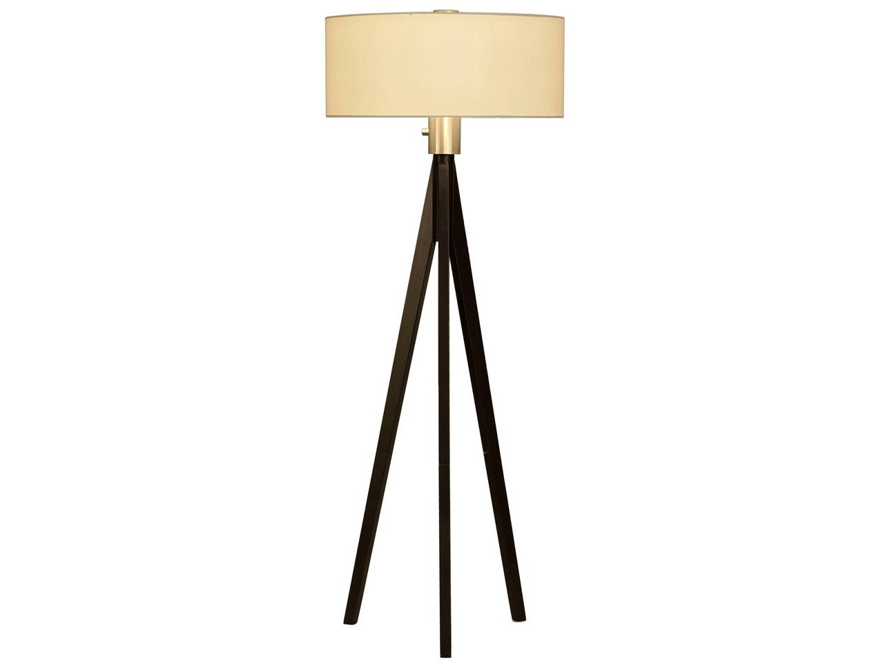 Tripod Pecan Finish Legs Amp Brushed Nickel Floor Lamp 10858