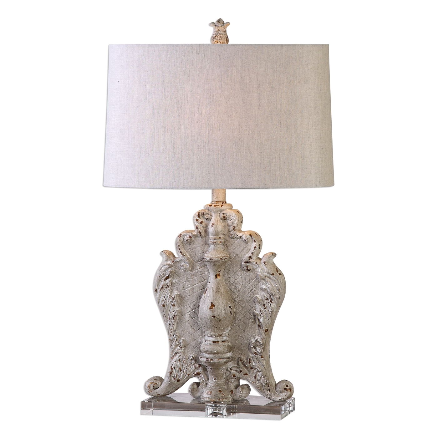 Triversa old world taupe gray table lamp with beige shade - Table basse beige taupe ...