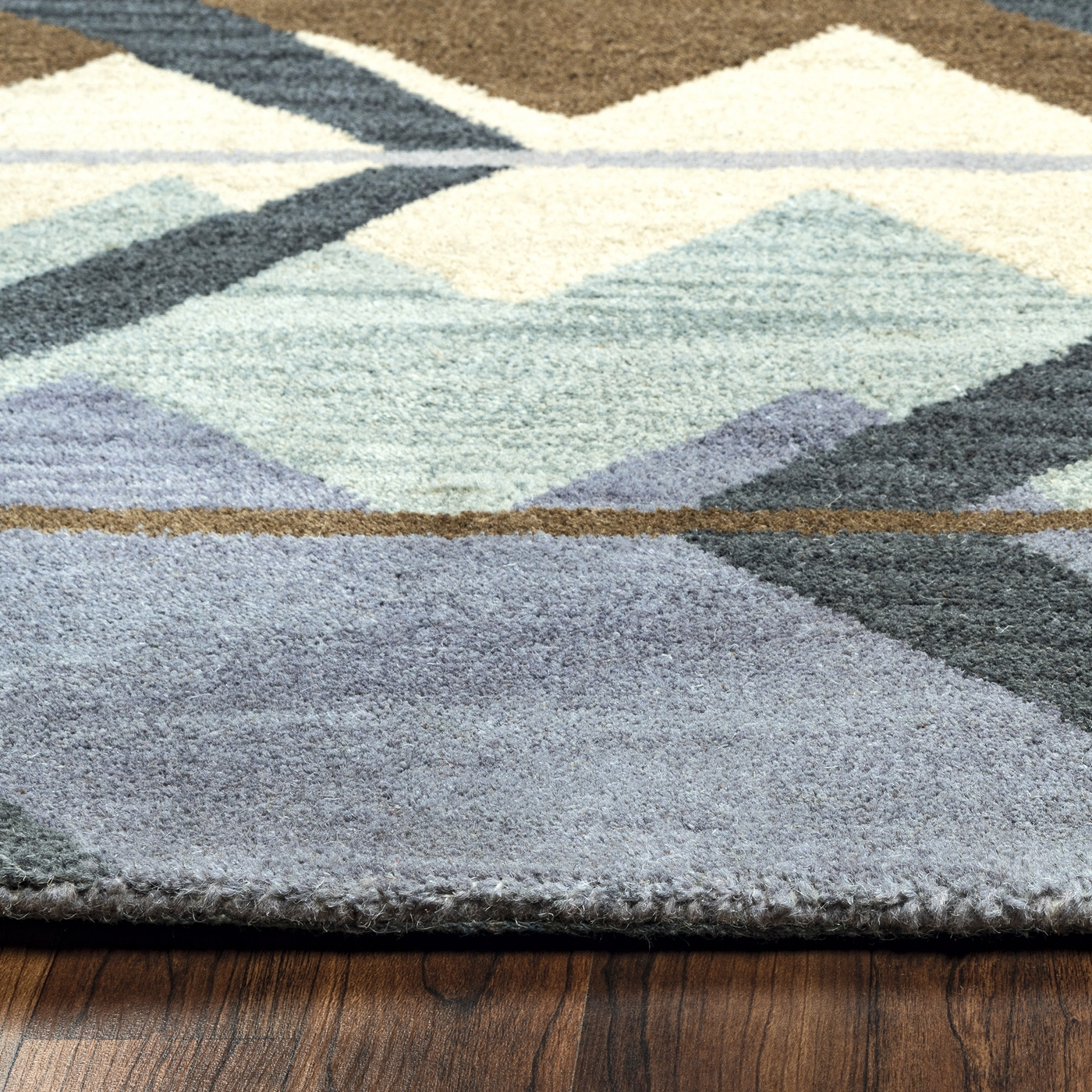 tumble weed loft indian abstract wool area rug in navy white brown 5 39 x 8 39. Black Bedroom Furniture Sets. Home Design Ideas