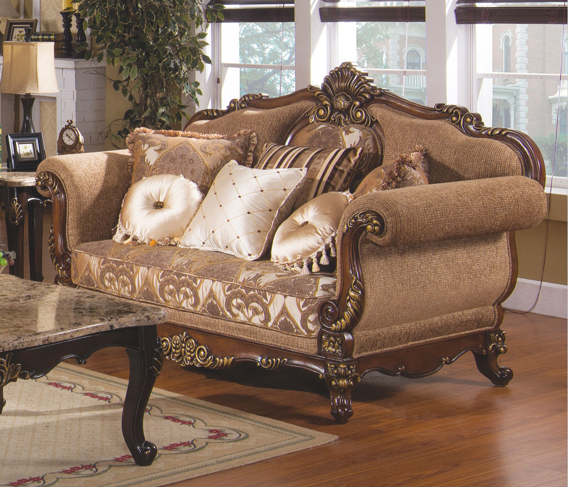 Tuscan villa traditional formal sofa set for Formal sofa sets