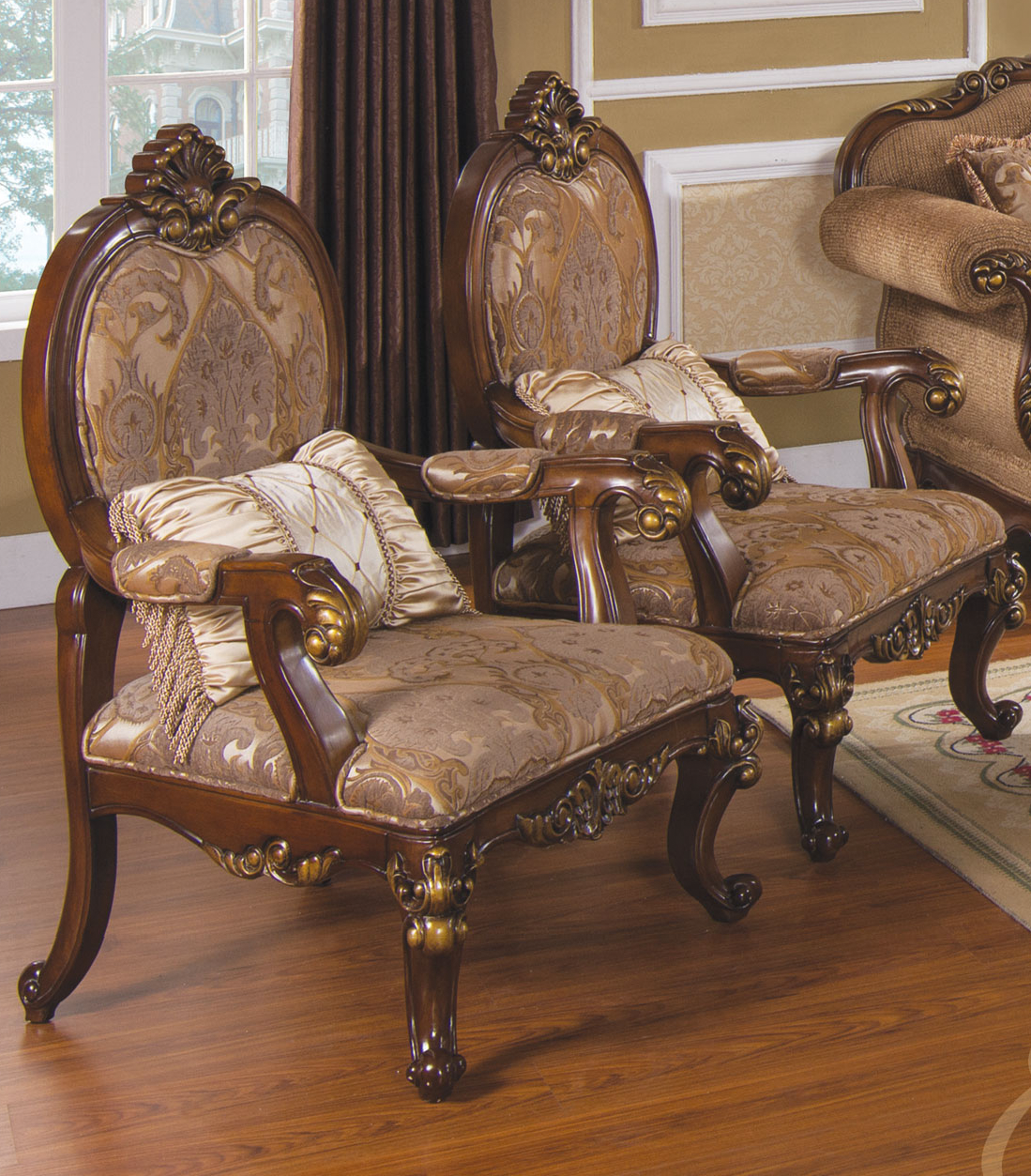 Tuscan villa traditional formal sofa set Antique loveseat styles