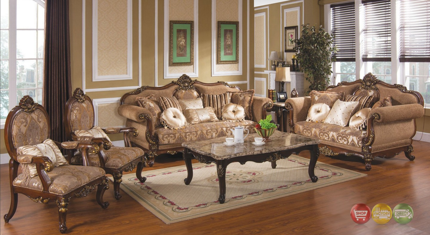 Tuscan villa traditional formal sofa set - Victorian living room set for sale ...