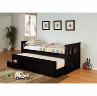 twin size black daybed with trundle and storage for sleepovers