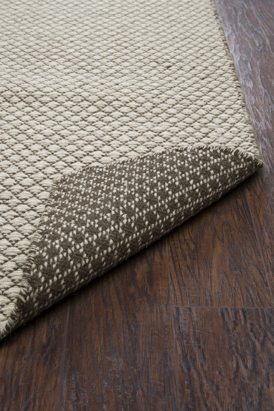 Twist Textured Woven Pattern Wool Area Rug In Gray Amp Off
