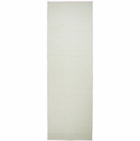 """Twist Soft New Zealand Wool Rectangle Runner Area Rug 2'6""""x 8'Ft Off White Solid"""