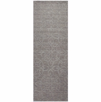 """Uptown Soft New Zealand Wool Rectangle Runner Area Rug 2'6""""x 8'Grey Solid Modern"""