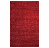 """Uptown Soft New Zealand Wool Rectangle Runner Area Rug 2'6""""x 8' Red Solid Modern"""