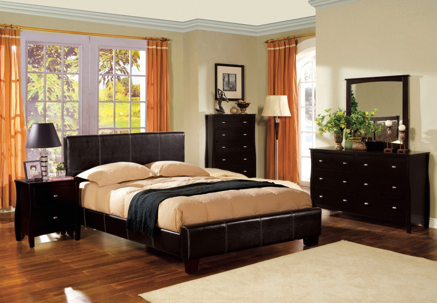 espresso bedroom set uptown contemporary espresso platform bedroom set with 11513
