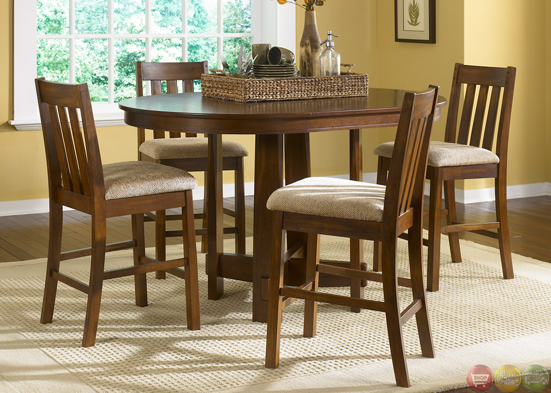 Urban mission counter height casual dining furniture set for Counter height dining set