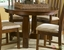 Urban Mission Style Oak Dining Furniture Set Round Table w/ Butterfly Leaf