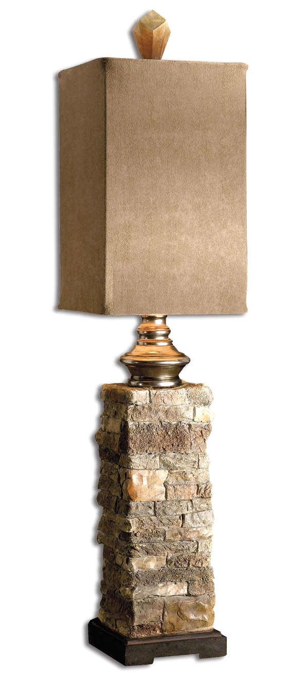 Andean Neutral Layered Stone Buffet Lamp 29093 1