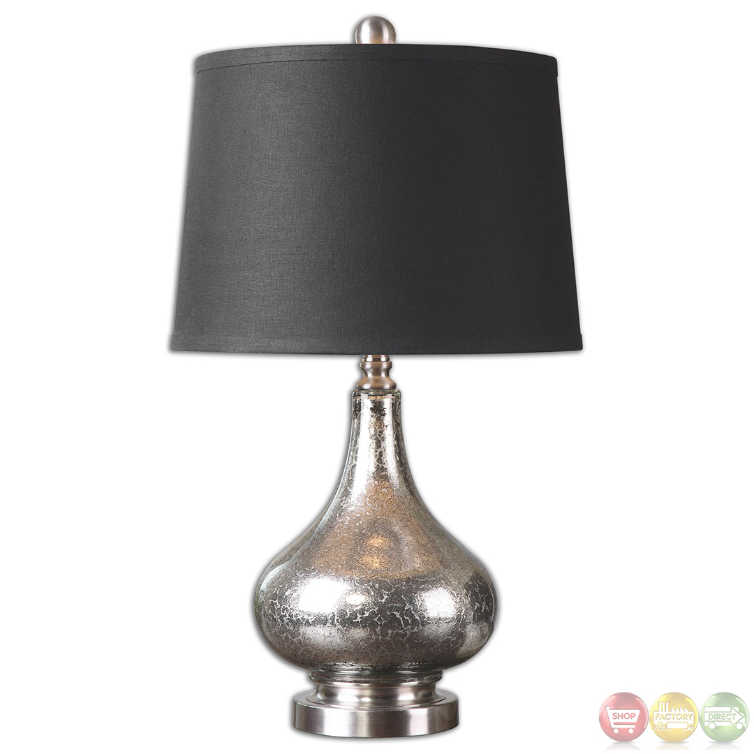Chariton Silver Mottled Mercury Glass Table Lamp 26158