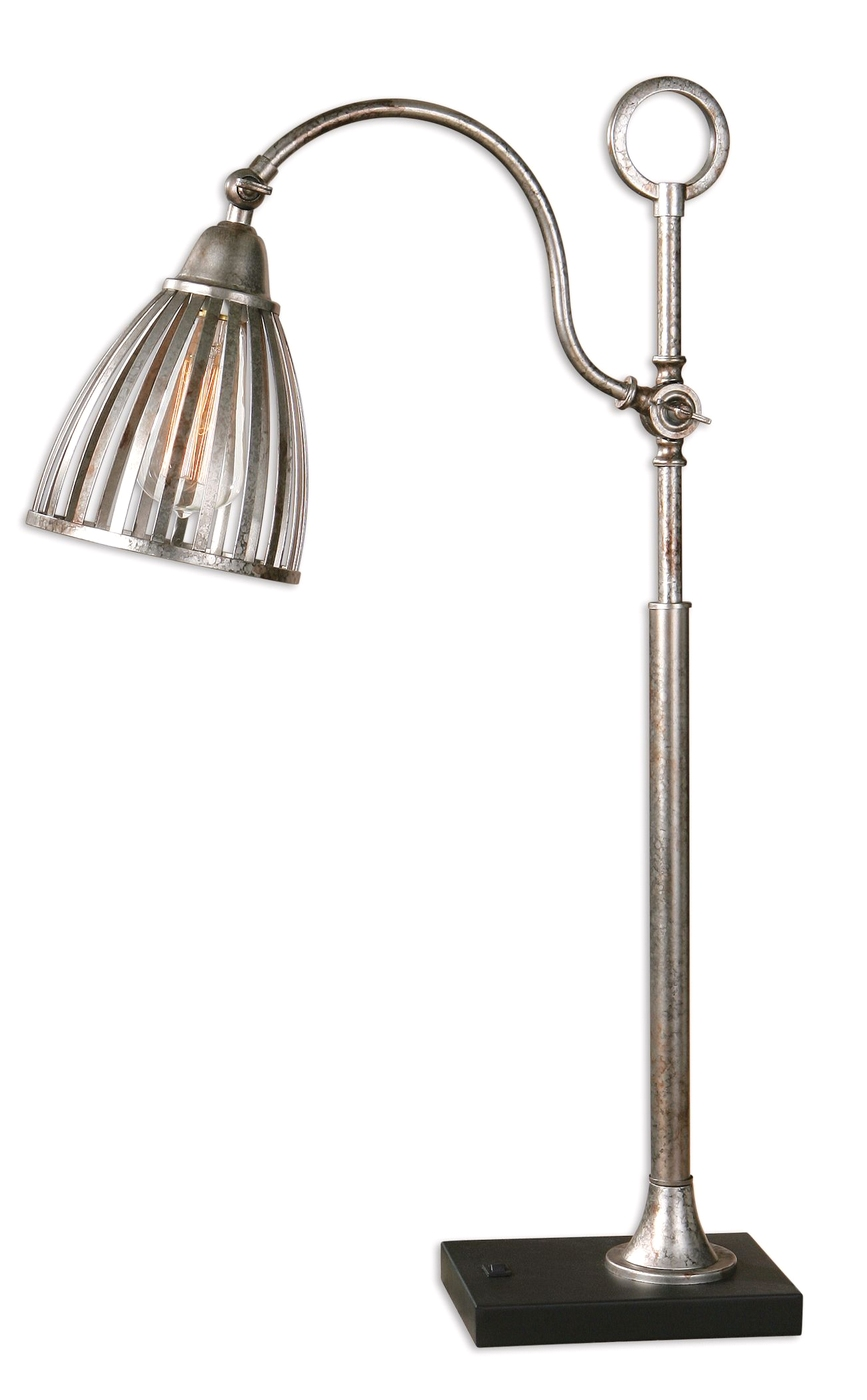 Manchester rust silver metal accent table lamp 29330 1 for Artistic accents genuine silver decoration