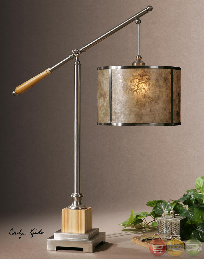 Sitka solid wood base mica shade table lamp 26765 1 for Sitka silver floor lamp
