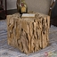 Teak Root Contemporary Bunching Cube Accent Table 25592