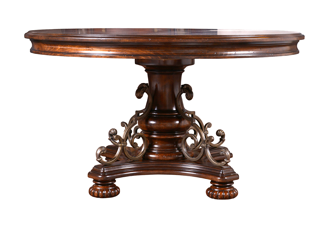 antique round dining room table | Valencia Antique Style Round Table Dining Room Set