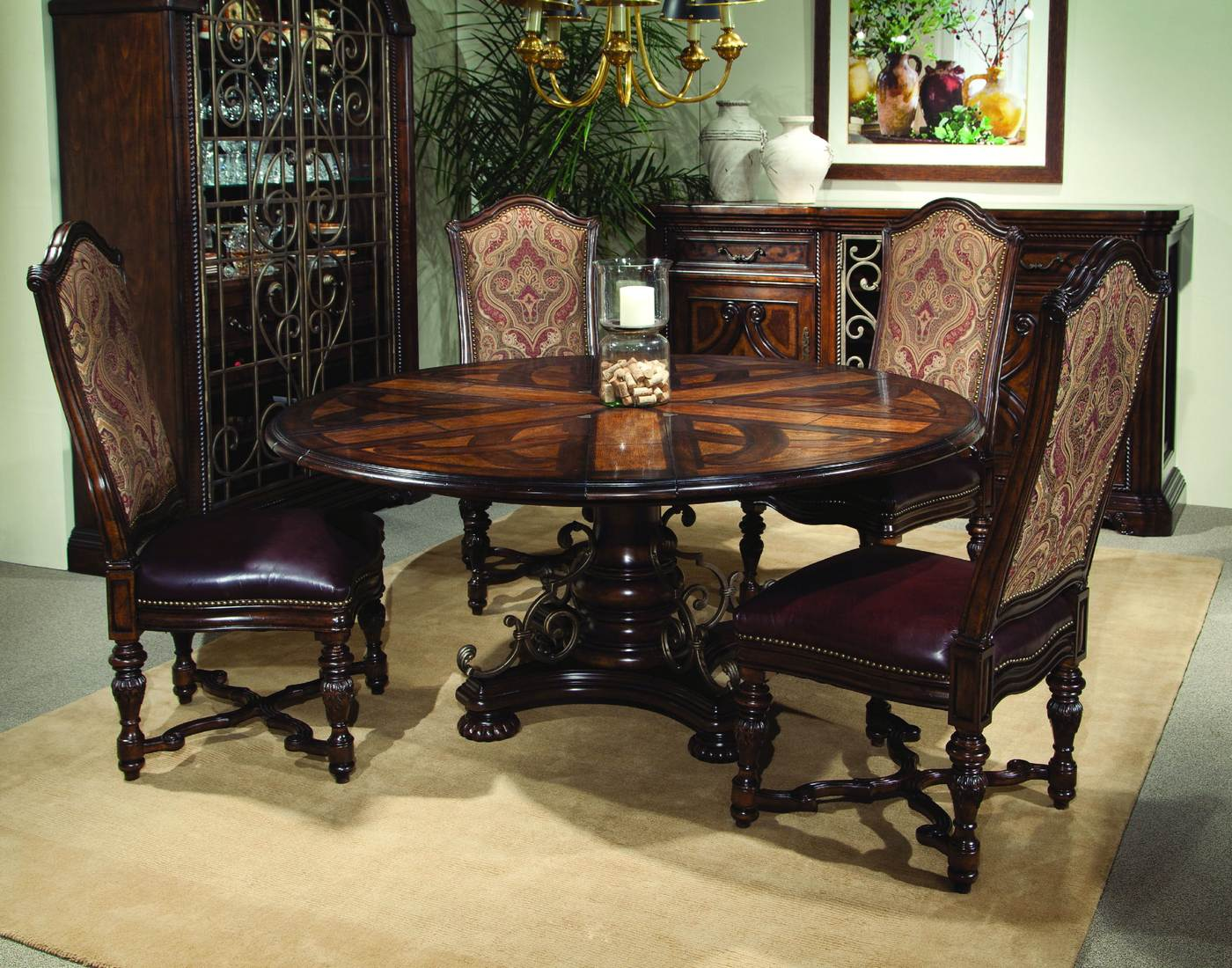 antique dining room sets valencia antique style round table dining room set 3811