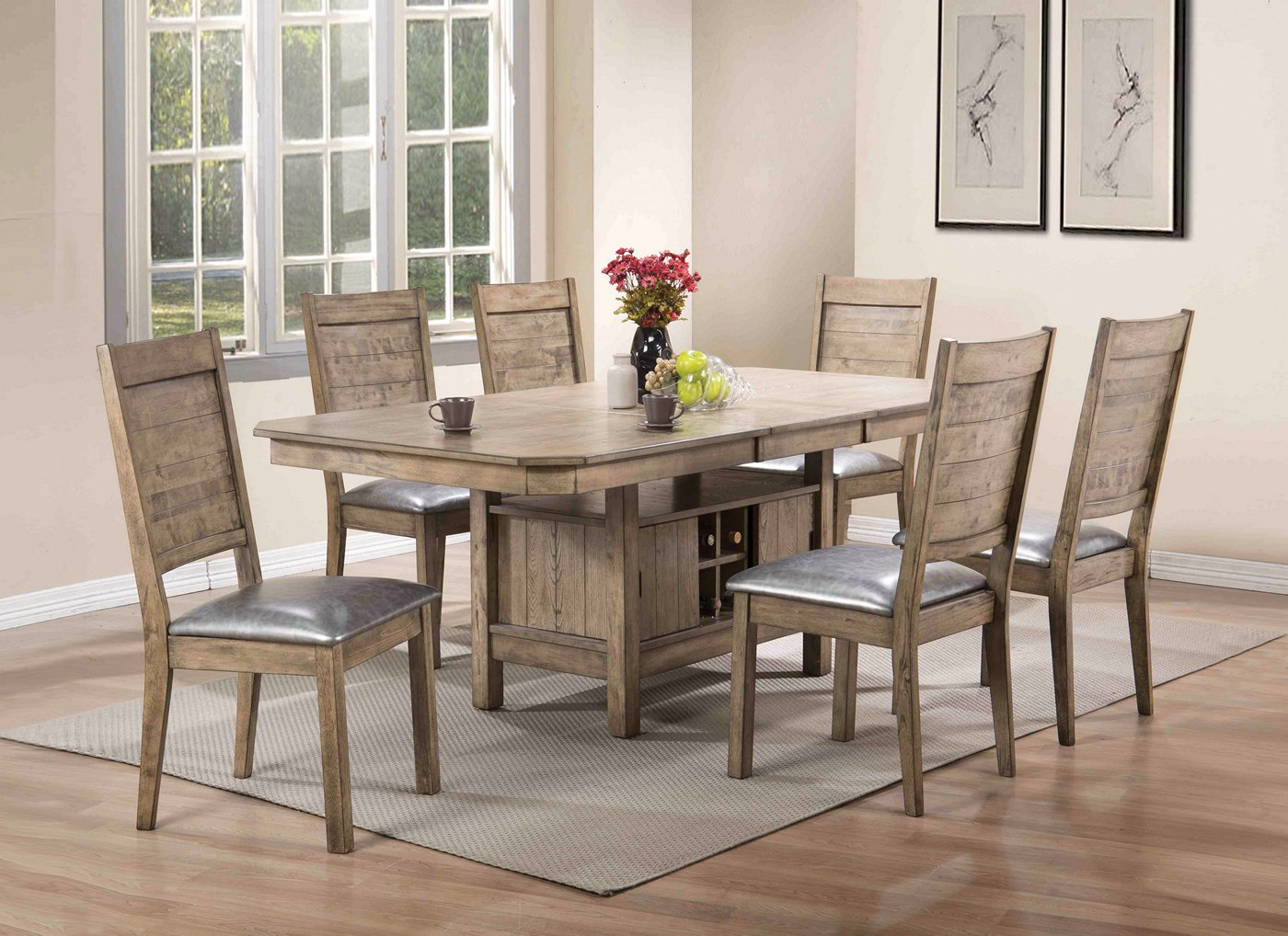 Valeria Modern 5 Pc 60 Quot 78 Quot Storage Dining Table Set In