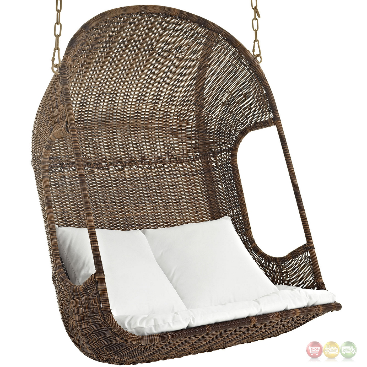 Vantage Outdoor Patio Wood Swing Chair With Retractable ...