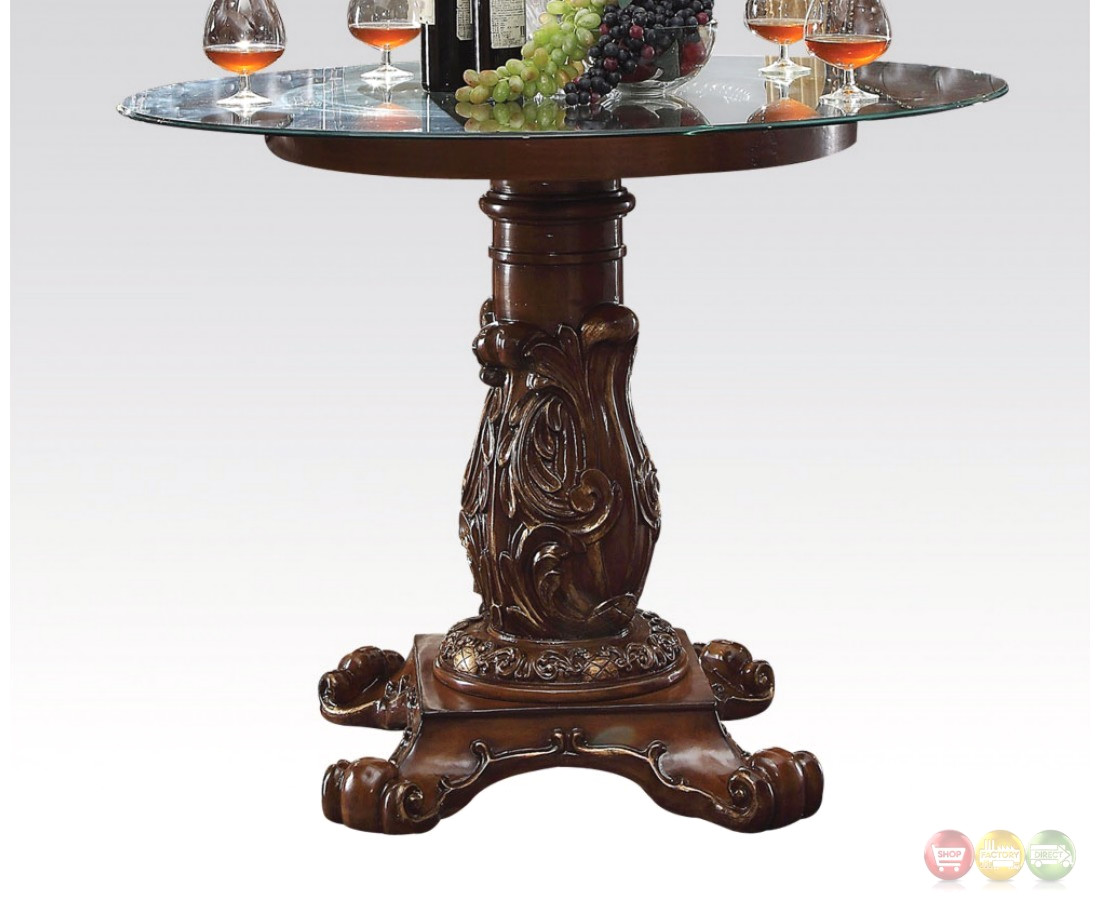 Vendome formal 48 round counter height dining table in for Fancy round dining table