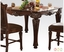 """Vendome Formal 54"""" Square Counter Height Dining Table In Brown Cherry"""